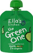 Ella's Kitchen - Био смути от ябълки, банани, круши и киви - Опаковка от 90 g за бебета над 6 месеца -