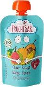 Fruchtbar - Био пюре с банани, гуава, папая и манго - Опаковка от 100 g за бебета над 6 месеца -
