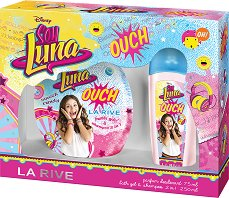 """Детски подаръчен комплект - Soy Luna Ouch - Парфюм-дезодорант и душ гел от серията """"Soy Luna"""" - балсам"""