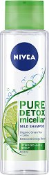 Nivea Pure Detox Micellar Mild Shampoo - Мицеларен шампоан с детоксикиращ ефект - лосион