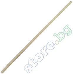 Дървена дръжка за лопати и гребла - Размери 148 x ∅ 3.6 cm