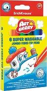Флумастери - Super Jumbo - Комплект от 6 или 12 цвята