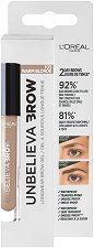 L'Oreal Unbelieva Brow Long Lasting Brow Gel - Дълготраен гел за вежди - пудра
