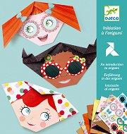 Оригами - Момичета - хартиен модел