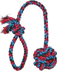 Плетено въже с топка -