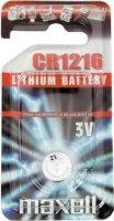 Бутонна батерия CR1216 - Литиева 3V - 1 брой -