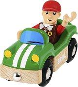 Спортна кола - Дървена играчка -