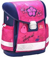 Ергономична ученическа раница - Tropical Pink -