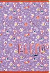 Ученическа тетрадка - Hello : Формат A4 с широки редове - 60 листа -