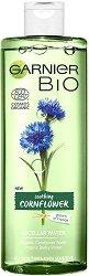 Garnier Bio Cornflower Micellar Cleansing Water - Био мицеларна вода за всеки тип кожа с метличина - крем
