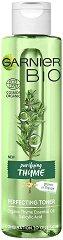 Garnier Bio Thyme Perfecting Toner - Био тоник за комбинирана до мазна кожа с масло от мащерка - маска