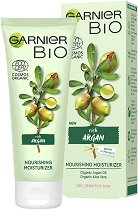 "Garnier Bio Argan Nourishing Moisturizer - Подхранващ и овлажняващ био крем за лице с арган от серията ""Garnier Bio"" - маска"
