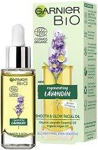 Garnier Bio Lavandin Smooth & Glow Facial Oil - душ гел
