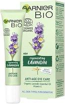 "Garnier Bio Lavandin Anti-Age Eye Care - Био околоочен крем против стареене с лавандула от серията ""Garnier Bio"" -"