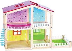 Дървена къща за кукли - Фантазия - играчка