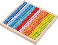 Дървена таблица за умножение - играчка