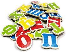 Магнитна българска азбука - Детски образователен комплект от дърво - играчка