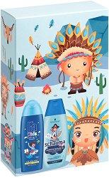 Подаръчен комплект за момчета - Fa Kids & Schauma - Шампоан и душ гел за деца -