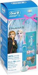 Oral-B Braun Vitality Kids Disney Frozen 2 + Travel Case Gift Set - Детска електрическа четка за зъби и кутия за пътуване - продукт
