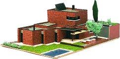 Модерна къща - Рокафорд - Детски сглобяем модел от истински тухлички - макет
