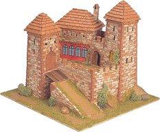 Средновековен замък - Burgen - Сглобяем модел от истински тухлички - макет