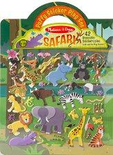 Сафари - книжка със стикери за многократна употреба : Safari - Puffy Sticker Play Set -