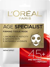 L'Oreal Age Specialist Firming Tissue Mask 45+ - крем