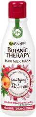 Garnier Botanic Therapy Fortifying Ricin Oil Hair Milk Mask - Маска с рициново масло за слаба и склонна към накъсване коса - гел