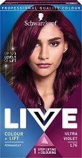 Schwarzkopf Live Colour + Lift Permanent - Трайна крем боя за коса с изсветляващ ефект - фон дьо тен