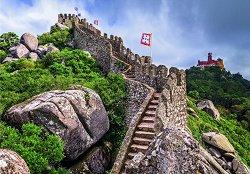 """Мавритански замък, Синтра, Португалия - От колекцията """"Travel"""" - пъзел"""
