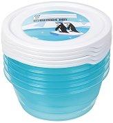 Контейнери за съхранение на храна - 500 ml - Комплект от 5 броя с капачки -