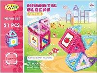 Магнитен конструктор - Розов свят - играчка