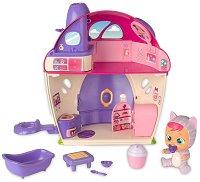 Cry Babies: Magic tears -  Вълшебната къщичката на Кейти - Плачеща мини кукла бебе с аксесоари - кукла