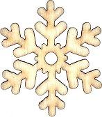 Дървени фигури - Снежинка