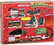 Музикално коледно влакче - Играчка със светлинни и звукови ефекти - играчка