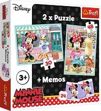"""Мини Маус  - 3 в 1 - Комплект от 2 пъзела и мемо игра от серията """"Мики Маус"""" -"""