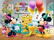 """Рожденният ден на Мини Маус - Пъзел от серията """"Мики Маус"""" - кукла"""