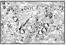 Плакат за оцветяване - Морско дъно -