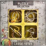 """Expert Metal Puzzles - Комплект 4 броя 3D пъзела от серията """"Casse-Tetes"""" -"""