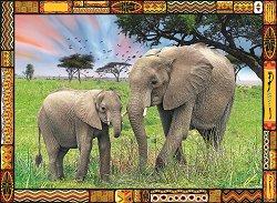 Слонове в саваната -