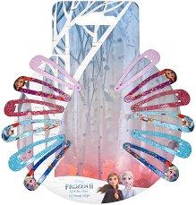 """Детски фиби за коса - Frozen 2 - Комплект от 12 броя от серията """"Замръзналото кралство"""" - продукт"""