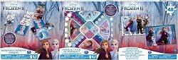 Замръзналото кралство 2 - 3 в 1 - Комплект игра, домино и пъзел -