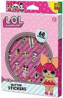 """Стикери с брокат - Комплект от 68 стикера от серията """"L.O.L. Surprise"""""""