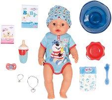 """Бебе - Момченце - Интерактивна кукла с аксесоари от серията """"Baby Born"""" - кукла"""