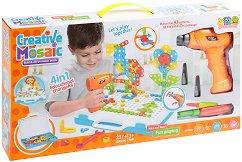 Мозайка - 4 в 1 - Креативен комплект - играчка