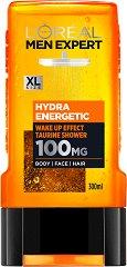 """L'Oreal Men Expert Hydra Energetic 3 in 1 Taurine Shower - Душ гел за мъже 3 в 1 от серията """"Men Expert"""" -"""
