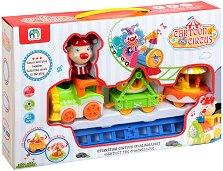 Влакче - Cartoon Circus - Конструктор със звукови и светлинни ефекти -