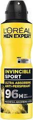 L'Oreal Men Expert Invincible Sport 96H Anti-Perspirant - Дезодорант против изпотяване за мъже - душ гел