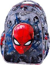 Ученическа раница с LED светлини - Joy S: Spiderman Black - раница