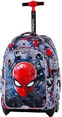 Ученическа раница с колелца - Jack: Spiderman Black - раница